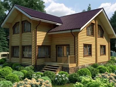 дома из оцилиндрованного бревна под проект
