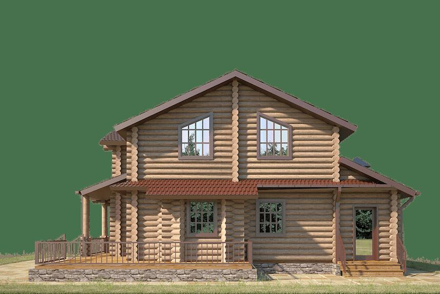 проекты домов из бревна под ключ цена