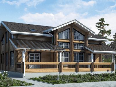 строительство деревянных домов проекты